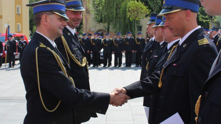 Strażacy świętują na lubińskim rynku