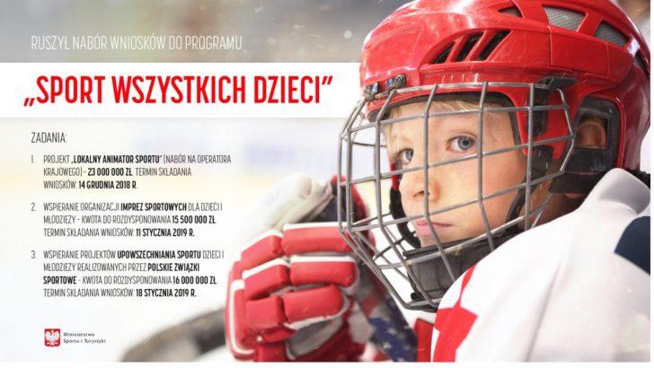 Dofinansują sport dziecięcy. Ruszył nabór wniosków
