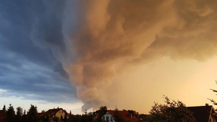 Burza nad Lubinem i prognoza wichury