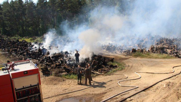 Pożar w Gorzelinie, Osiek chwilowo bez wody