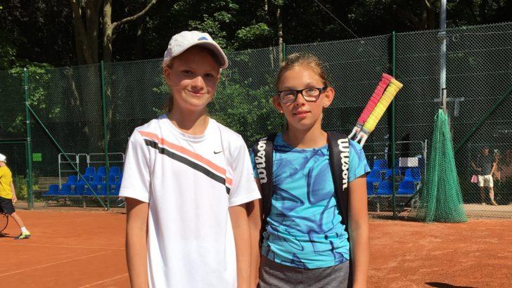 Zawodniczka Top Tenis na zawodach w Szczecinie