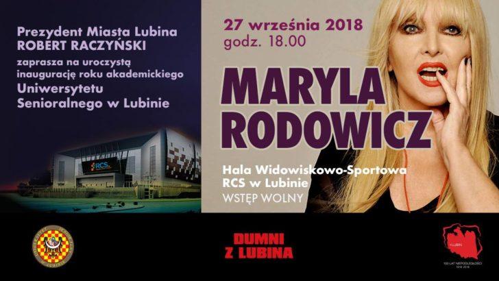 Maryla Rodowicz wystąpi w lubińskiej hali. Wstęp bezpłatny