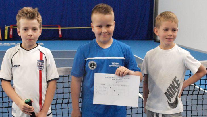 Młody tenisista w Turnieju Masters