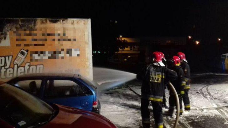 Pożar auta na Przylesiu