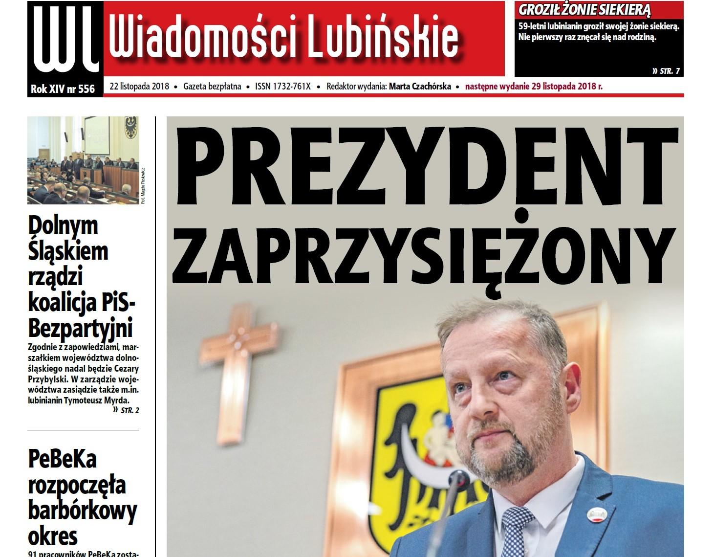 """""""Wiadomości Lubińskie"""" jak zwykle w czwartek"""
