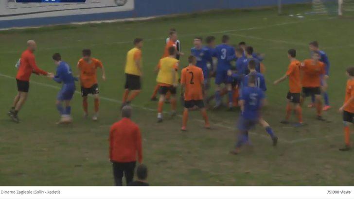Mecz Zagłębia z Chorwatami zakończył się bójką na boisku