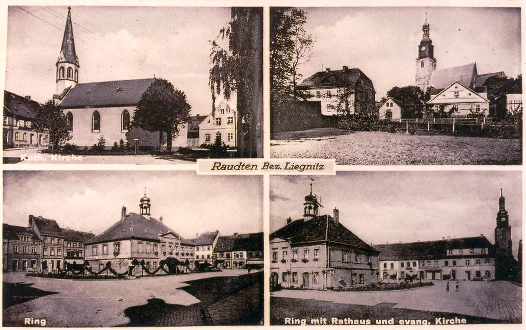 Pocztówki sprzed lat - okolice Lubina