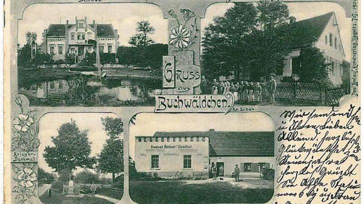 Pocztówki sprzed lat, tym razem z okolic Lubina