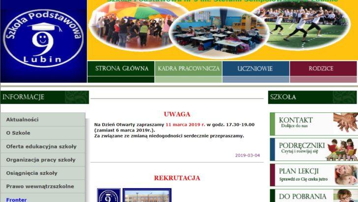 Szkoła Podstawowa nr 9 zaprasza na dzień otwarty