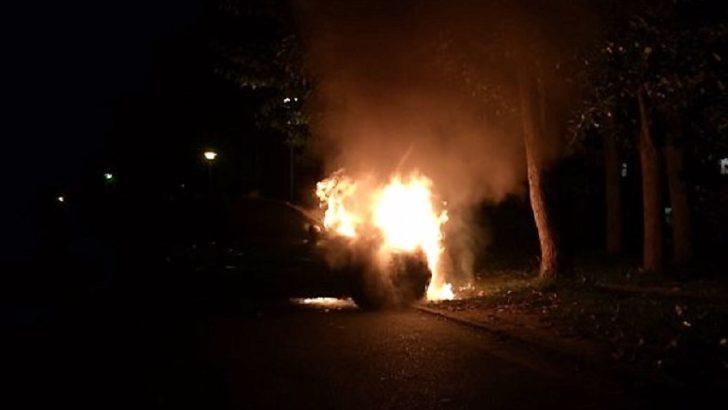 Renault megane spłonęło pod skarbówką